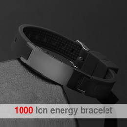 Discount stainless steel power - LITTLE FROG 2018 Top Quality Silicone Energy Size Can Adjust Bracelet Metal Buckle Balance Wristband Power Bangle 20002