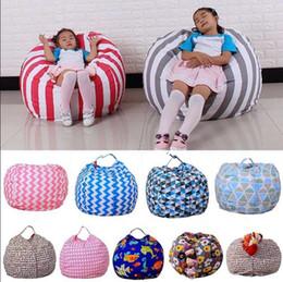 Bean Bag Lazy Sofa Canada - Lazy Bean Bag Sofas Animal Toys Storage Bean Bag Stuffed Children Plush Toy Organizer bag Creative Chair for Kids KKA3985