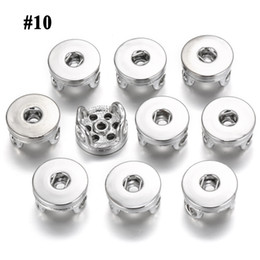 make snap jewelry 2019 - 18mm New Wholesale Fashion Noosa Snaps Button Chunks Silver Plated Connectors DIY Snaps Button Bracelet Jewelry Accessor