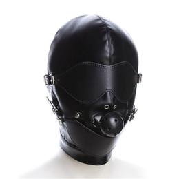 $enCountryForm.capitalKeyWord Australia - Fetish Hood Headgear With Mouth Ball Gag PU Leather BDSM Bondage Sex Mask Hood Toys Adult Games Sex Product For Couples Y18101501