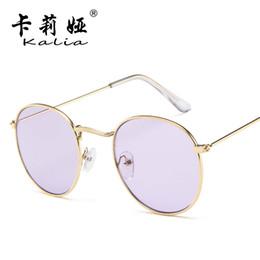 14cbf18d68c Europe and the United States sunglasses female tide round frame retro sunglasses  color film sunglasses fashion thin face glasses wholesale