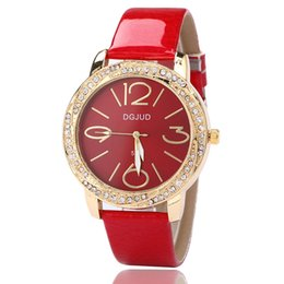 China Couple Watch Fashion Trend On The Table Ultra-Thin Business Simple Women'S Watch Bright Leather Enamel Diamond High-End supplier ultra thin gold watches leather suppliers