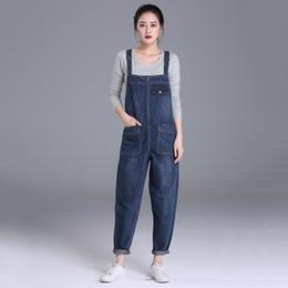 aabe5b2d9e7 Fashion 2018 S-6xl Plus Size Women Denim Jumpsuit bib Pants Spring Summer  bf Large Size Jeans Female Trousers Jumpsuit 5XL A231