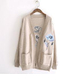 Sweater Cardigan Women Winter Clothes V Neck Cotton Casual Fashion 2018  Korean Style Fall Tops Open Stitch Long Sleeve Khaki e847b79b4