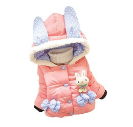Wholesale old cartoons resale online - Baby girl cartoon cotton thick coat jacket new fashion children s down jacket for years old