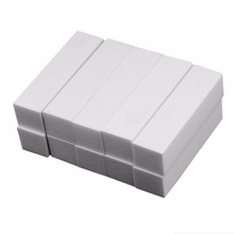 white nail blocks 2019 - Nail Art Decorations 10Pcs White Buffing Sanding Pedicure Files Block Manicure Care Nail Art Buffer gvb discount white n