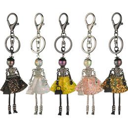 Small cartoon couple online shopping - Cartoon Key Chain Doll Shape Key Ring Designs Modern Style Car Hang Pendant Sequin Key Pendant Couple Small Gift