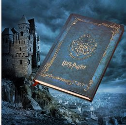 harry potter leather NZ - Vintage Harry Potter notebooks Hogwarts hard cover notepads Creative student office magnetic snap notes book kids magic notepads