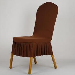 ElEgant chair covErs online shopping - Elegant Pleated Skirt Wedding Chair Cover Short Style Spandex Stretch & Elegant Chair Covers Online Shopping | Wholesale Elegant Chair ...