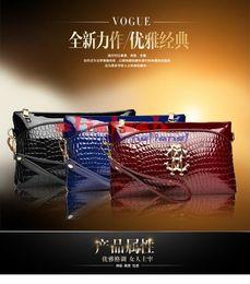 $enCountryForm.capitalKeyWord NZ - by dhl or ems 100pcs 2017 new fashion women's hand bag crocodile pattern leisure handbag shoulder Messenger bag