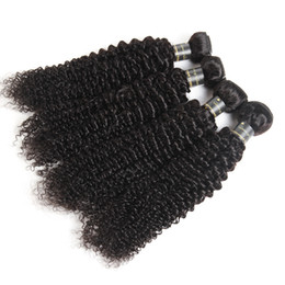 Loose Curly Human Hair Weaving UK - Unprocessed Peruvian Virgin Hair Bundles Wet And Wavy Hair Loose Water Wave Natural Deep Wave Afro Kinky Curly Human Hair Weave