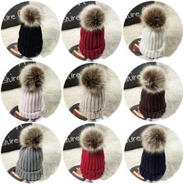 $enCountryForm.capitalKeyWord Australia - Women's Popular Knitted Cap Autumn Winter Men Cotton Warm Hat CC Skullies Brand Heavy Hair Ball Twist Beanies Solid Color Hip-Hop Wool