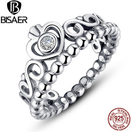 crowns for queens 2019 - Wholesale- 925 Sterling Silver Ring My Princess Queen Crown Stackable Rings for Women Compatible with Sterling Silver Je