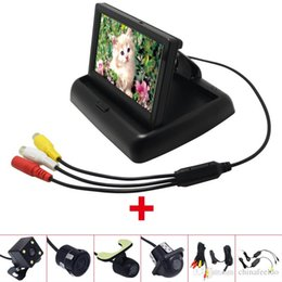 """Foldable Monitor Camera Australia - Car 4.3"""" Foldable TFT LCD Car Rearview Monitor With Reversing Backup Camera Video System 2.4G Wireless & Cigarette Lighter Optional #1535"""