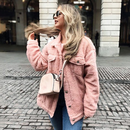 $enCountryForm.capitalKeyWord Canada - Khaki Oversized Buttons Jackets Women Winter Fashion Warm Teddy Coats Autumn Outerwear Pink Overcoats