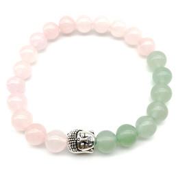 Green aventurine jewelry online shopping - SN1259 On Sale Buddha Bracelet High Quality Rose Quartz Green Aventurine Bracelet Yoga Mala Balance Jewelry