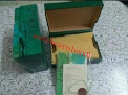 Завод поставщик роскошный зеленый с оригинальный футляр деревянный ROLEX часы футляр документы карты бумажник BoxesCases наручные часы футляр на Распродаже