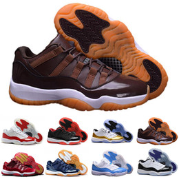 Chinese  2018 Mens and Women 11 Low Barons 11S Black Basketball design Shoes Out Door Sports Sneakers for Men Size US5.5-13 manufacturers