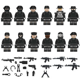 $enCountryForm.capitalKeyWord NZ - 12pcs COD SWAT Mini Toy Figure Special Forces Police Figure with Weapons Mini Building Block Construction Toy Figure for Boy Kid