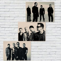 $enCountryForm.capitalKeyWord UK - U2 Posters Rock Music Posters Vintage Poster Retro Wall Sticker Home Decor Kraft paper