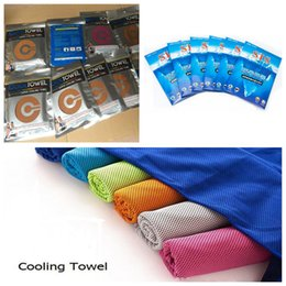 Cooling Summer Towels NZ - Double Layer Ice Cooling Towel Summer Sports Exercise Cold Towels 90*30cm Quick Dry Ice Cold Washcloth Hypothermia Cool Towel with Package