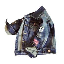 1adafc479 Spring Autumn Baby Boy Denim Jacket for Kids 2018 Children Jean Coat  Fashion Outerwear Coats Toddler Boys Canvas Jackets Clothes