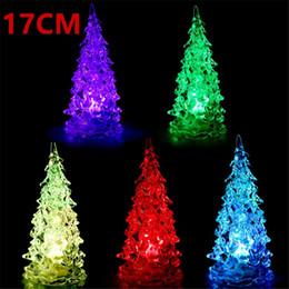 $enCountryForm.capitalKeyWord NZ - Colorful Crystal Acrylic Christmas Tree LED Night Light Changing Tower Lamp Home Decoration Xmas Light Gift Party Wedding Decorations
