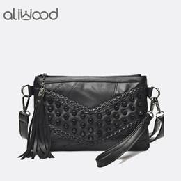$enCountryForm.capitalKeyWord NZ - Fashion Tassel Women's Bags Luxury Fringed Handbags Genuine Leather Women Messenger Bag For Girls Crossbody Bag Females Clutches