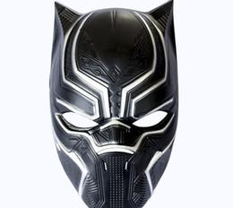 Discount helmet half face mask - Black leopard helmet cos captain 3 Civil War mask Mwai anime Halloween Horror live mask L332