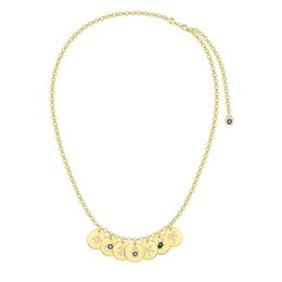 $enCountryForm.capitalKeyWord UK - 925 Sterling Silver Yellow Gold Color Lucky Coin Chain Necklace with ETE Sea Turtle Star Palm Eye Cubic Zirconia Pendant