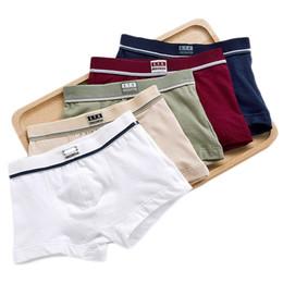 China Boys Underwear Children Panties Boys Cotton Boxer Shorts Children's solid Panties Kids Underwear For 2-16 years cheap boxers kids suppliers