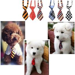 Cat headdress online shopping - Fashion polyester silk pet tie dog headdress necktie ddjustable nice bow tie cat tie pet supplies color free ship