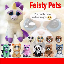 Soft Electronics NZ - New Feisty Pets Change Face Funny Expression Animal Dolls Stuffed Plush Toys For Kids Cute Soft Cotton Christmas Gift Hot Sale