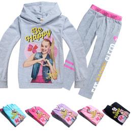 Pink baby blue t shirts online shopping - Long Sleeve T shirt Set JOJO SIWA Children Baby Girl Clothing Set Years Baby Kids hoodies Girls Sweatshirt Clothes MMA891