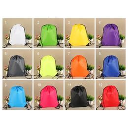 $enCountryForm.capitalKeyWord Canada - Sport drawstring bag Nylon backpack shoulder bag for outdoor gym adjustable and light pure color A