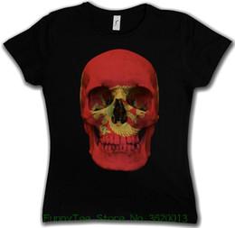 8c697056b1 Camiseta de mujer Classic Montenegro Skull Flag Camiseta de mujer Girlie  Girl - Biker Mc Banner Shirt Funny Print Women T Shirt