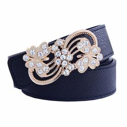 Yellow Flower For Belts Australia - casual belts for women fashion leisure hollow flower belt buckle 3.7 wide belt smooth cintos femininos
