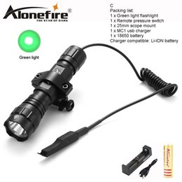 green flashlight for hunting NZ - AloneFire 501Bs green light LED Tactical Flashlight Torch Pressure Switch Mount Tactical Lamp for Household flashlight