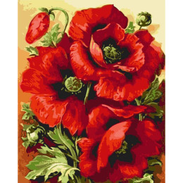 Shop poppy flowers paintings uk poppy flowers paintings free poppy flower painting for painting by numbers frameless pictures diy digital canvas oil home decor for living room mightylinksfo