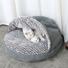 Designs For Beds NZ - Pet Warm Soft Bag Warm Cat Bed House Slipper Design Bed Pet Dog Sofas For Cats Dogs Pets Basket Kennel Tent House Free Shipping