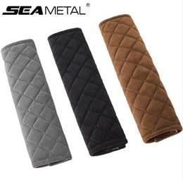 Wholesale Car Seat Belt Shoulders Pads Covers goods Cushion Warm Short Plush Safety Shoulder Protection Auto Interior Accessories Styling