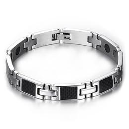 $enCountryForm.capitalKeyWord NZ - Drop shipping brand new men's stainless steel bracelet germanium carbon fiber bracelets fashion jewelry factory supplier wholesale 088