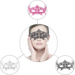 $enCountryForm.capitalKeyWord NZ - Half Face Mask Halloween Lace Metal Sexy Lady Masquerade mask Rhinestones Venetian Party Masks For Woman Girls Disco Ball Christmas