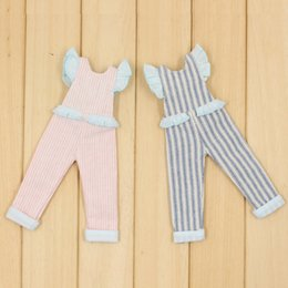 Pink Body Suits Australia - doll overalls Blyth doll Pink and Blue Stripe Overalls for the JOINT body naughty and cute suit ICY NEO