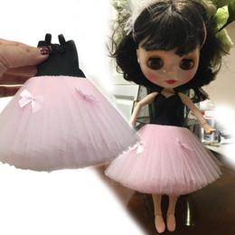 Lindo vestido de estilo occidental falda muñecas ropa accesorios para Blythe Licca Barbi Azone Pulip muñeca monstruo accesorios