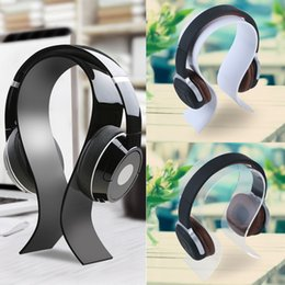 Wholesale High Quality Acrylic Headphone Stand Headset Holder Hanger Earbuds Display Bracket for Head Mounted Headphone Universal