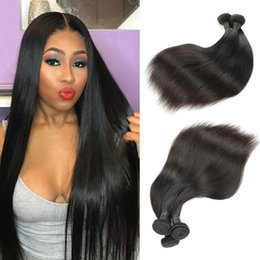 24 inch straight malaysian hair 2019 - 10 A Grade Brazilian Virgin Hair Human Hair Extensions Weave 3 Bundles Straight Remy Hair Weaves Bundles Factory Deal Na