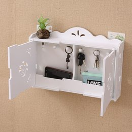 $enCountryForm.capitalKeyWord NZ - Simple and modern wall shelves hook-free drilling living room decorative wall hanging key storage box finishing box