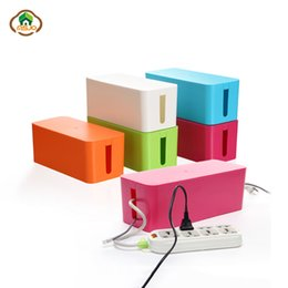 Wire Cable Organizer Canada - Msjo Storage Boxes Wire Organizer Box Cable Management Electrical Outlet Bins For Power Strip Multi-Charger Wire Arranging Case