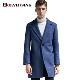 Wholesale 6xl men pea coats for sale - Group buy Holyrising Men Woolen Coats Casual One Button Abrigos Hombre Invierno Slim Male Pea Coat Overcoat Men Cloth Size S XL